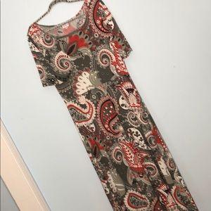 LuLaRoe Ana Maxi Dress paisley print 3XL